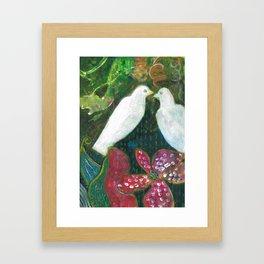 Lovey dovey Framed Art Print