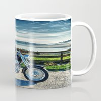 middle earth Mugs featuring Harley Davidson, Middle Earth Edition. by Bodhikai Imagery | Pacific Northwest Tra