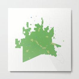 McKinney Texas Minimalist Map (Cucumber) Metal Print