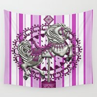 pony Wall Tapestries featuring Pony Pink by The Victorian Fantasy