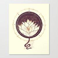 lotus Canvas Prints featuring Lotus by Hector Mansilla