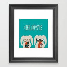 Hipster #LOVE Framed Art Print