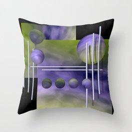 liking geometry -3- Throw Pillow