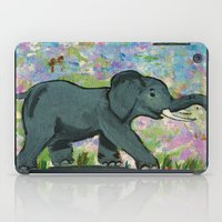 baby elephant iPad Cases featuring Baby Elephant by gretzky