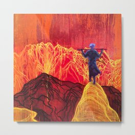 Accept Nature and Admire the Electric Volcano Blast. Metal Print