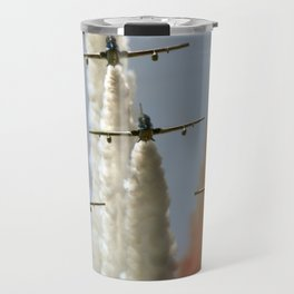 green, white and red smoke Travel Mug