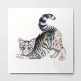 Yoga Kitten Metal Print
