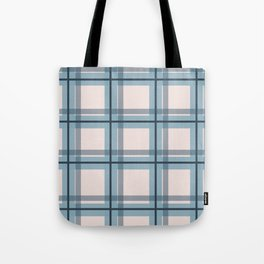 Winter Plaid in Blue Tote Bag