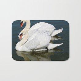 Synchronized Swans Bath Mat