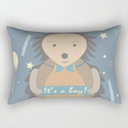Baby Shower Hedgehog Rectangular Pillow