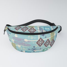 Retro Mid Century Modern Atomic Abstract Pattern 245 Fanny Pack