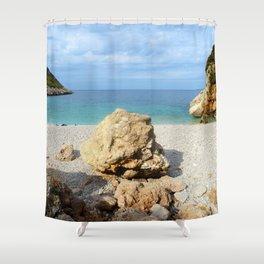 SICILIAN SEA SOUND Shower Curtain