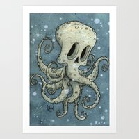 Nasty octopus Art Print