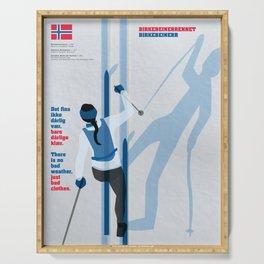 Birkebeinerrennet Birkebeiner Nordic Skiing by Dennis Weber ShreddyStudio Serving Tray