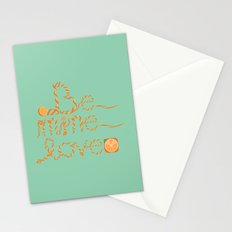 Valentine's Day Orange Peel Heart Stationery Cards