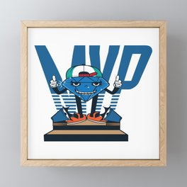 MVP - Wear This T-shirt For Sports Or Just For Fun And Show Everyone Who Is The Best Design Framed Mini Art Print