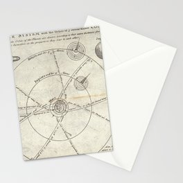 The Solar System with the Orbits of 5 Remarkable Comets Stationery Cards