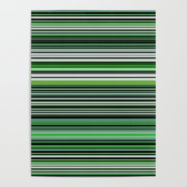 Emerald & Forest Stripes Poster