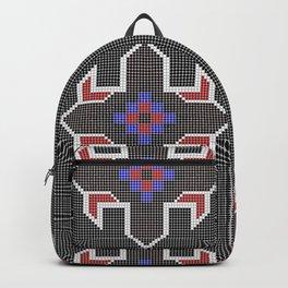 Beaded Star (Black & Red) Backpack