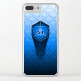 D20 All I Do Is Crit!  Blue Ombre Clear iPhone Case