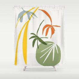 moss imprint - garden zen Shower Curtain