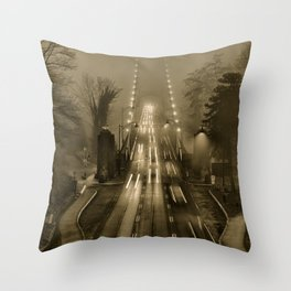 Lions Gate in the Fog 02 Throw Pillow