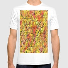 Sunset Projected White MEDIUM Mens Fitted Tee
