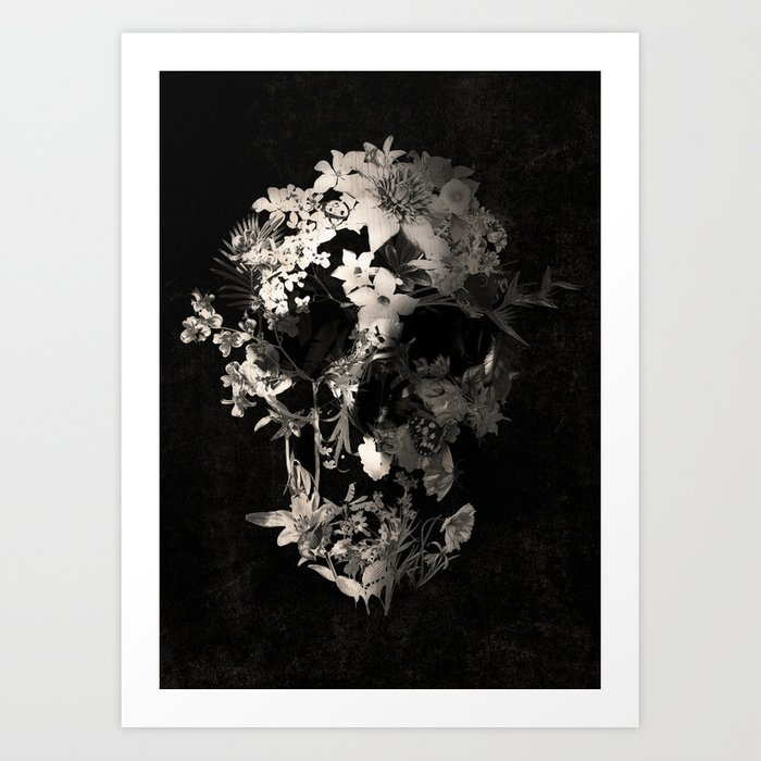 Spring Skull Monochrome Kunstdrucke