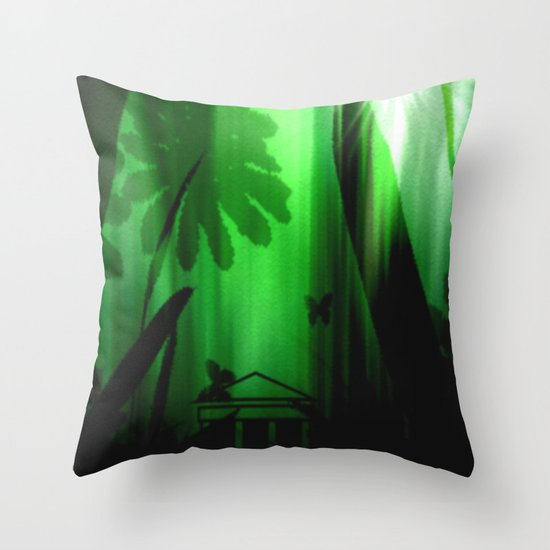 Deep in the rain forest. Throw Pillow