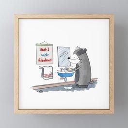 Wash Your Hands! Framed Mini Art Print