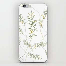 fern leafs pattern iPhone Skin