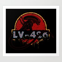 lv Art Prints featuring LV-426 by Crumblin' Cookie