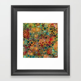 Dots on Painted and Gold Background Framed Art Print