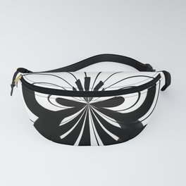 Black And White Abstract Piano Fanny Pack