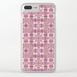 Abstract pattern in pink beige Browns . Ornament . Clear iPhone Case
