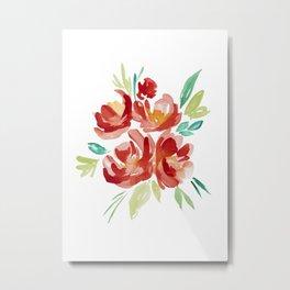Watrcolor flower bouqet pinting Metal Print