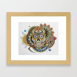 Convergence - Sugar Skull Framed Art Print