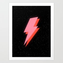 Thunderbolt: Glowing Astro Edition Art Print