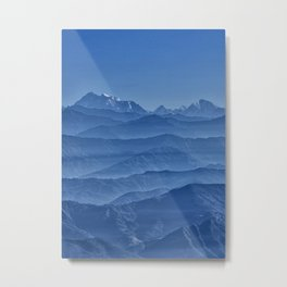 Blue Hima-layers Metal Print