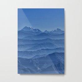 Blue Hima-layers Metal Print