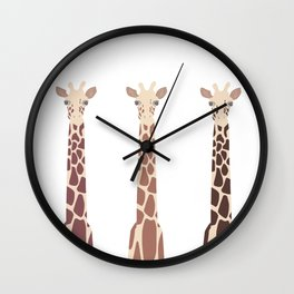 Triple Giraffes Wall Clock