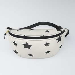 Star Pattern - Black & White Fanny Pack