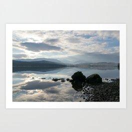 Over Loch Rannoch towards Meall Buidhe and Beinn a Chreachain Art Print