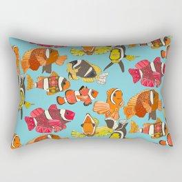 clownfish blue Rectangular Pillow