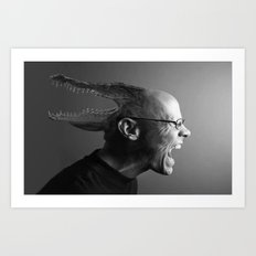 Reptilian Thoughts, Draconian Actions. Art Print
