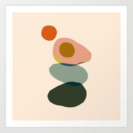 Abstract Avocado Art Print
