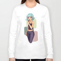 lipstick Long Sleeve T-shirts featuring Lipstick by Jessica May