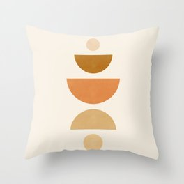 Abstraction_Geometric_Shape_Moon_Sun_Minimalism_001D Throw Pillow