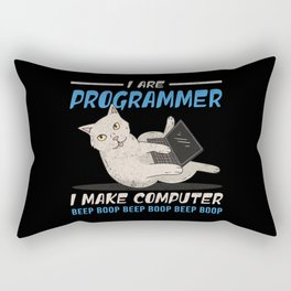 I Are Programmer I Make Computer Beep Boop Gift Rectangular Pillow