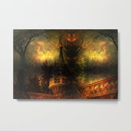 Monster of the Pumpkin Castle Metal Print